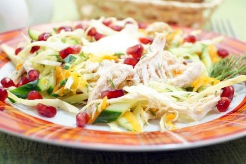 Вкусный салат с курицей Марта