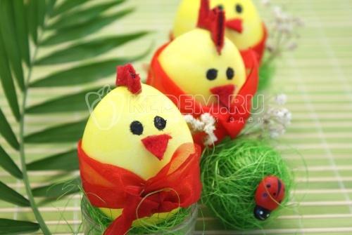 Яйца «Пасхальные цыплятки» - рецепт