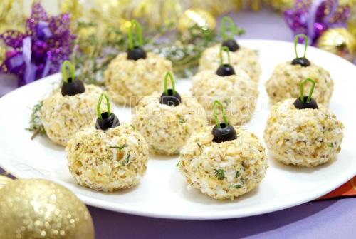 Закуска «Елочные шары» - рецепт