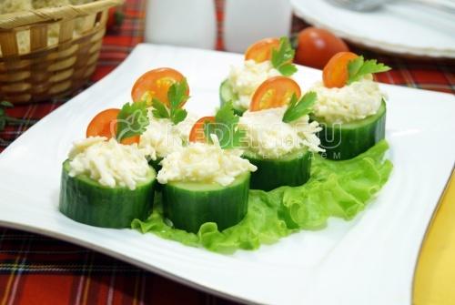 Закуска из огурцов «Праздничная» - рецепт