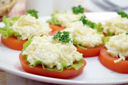 Закуска «Помидоры с сыром»