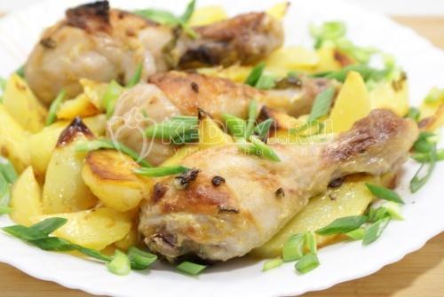 Запеченные куриные голени в горчице
