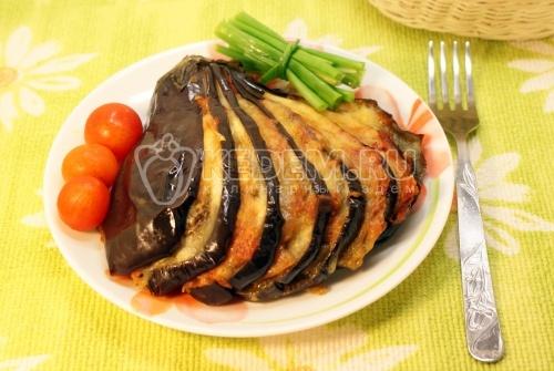 Запеченный баклажан «Веер» - рецепт
