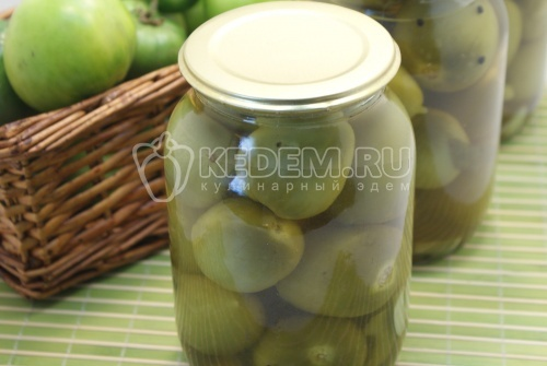 Зеленые помидоры с паприкой «Пьяные» - рецепт
