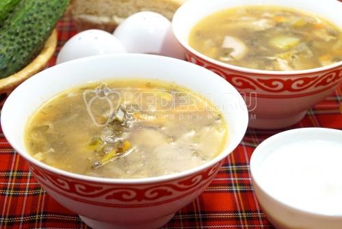 Зелёный суп с щавелем - рецепт