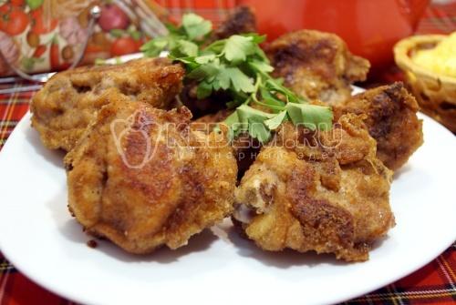 Жареная курица в панировке