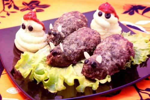 Жаренные крыски с картофельным пюре