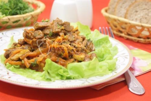 Жаркое с грибами в томатном соусе из протёртых помидоров - рецепт