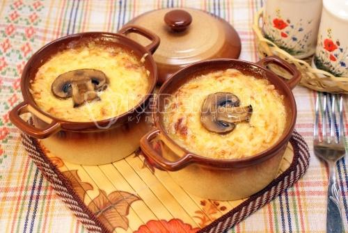 Жульен с грибами фото рецепт