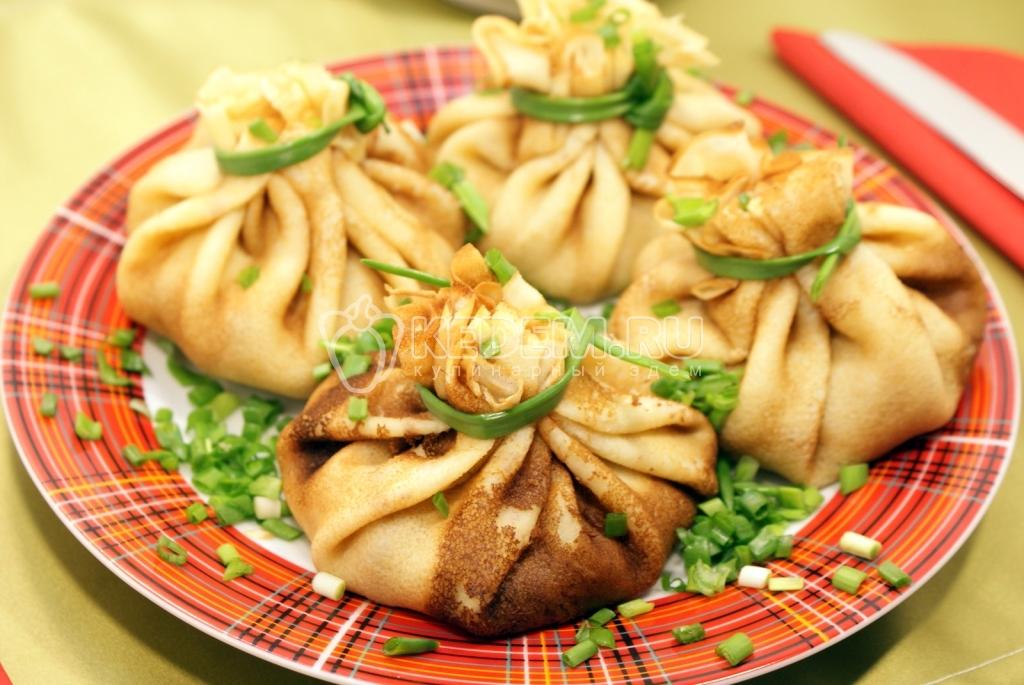 блины с фаршем в духовке рецепт с фото