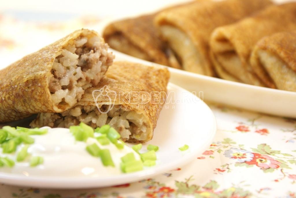 Блины фаршированные с мясом фото рецепт пошаговый рецепт с фото — pic 5