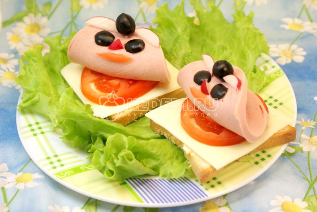 Самые красивые бутерброды и рецепт