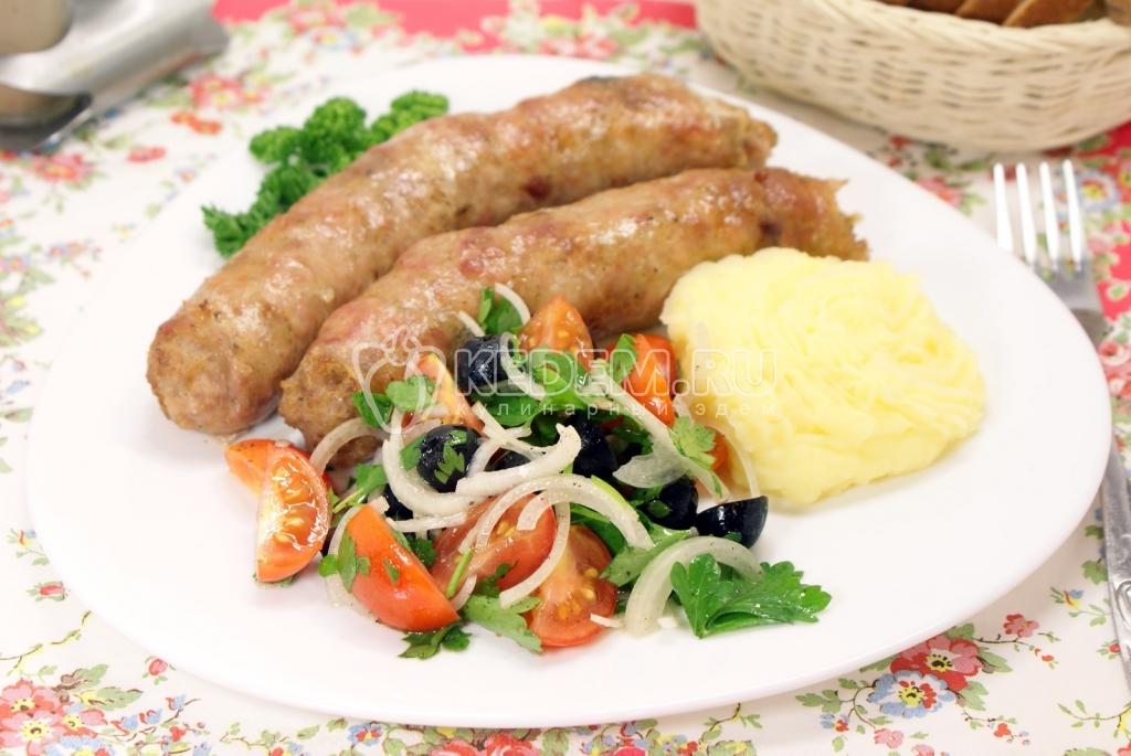 рецепт колбасок из мяса