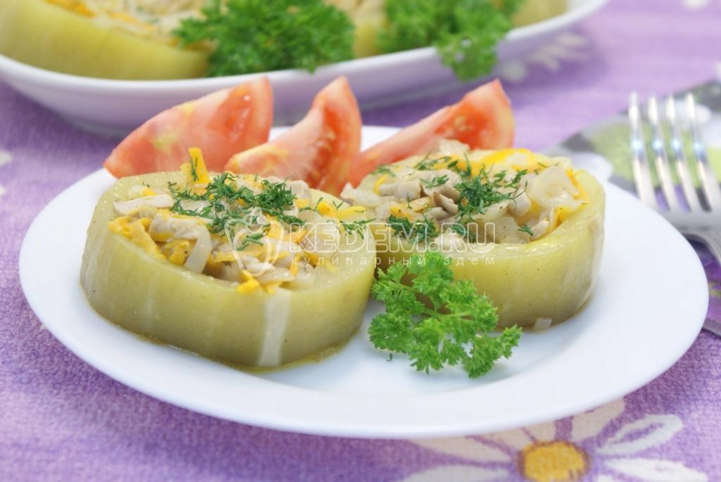 Кабачки фаршированные в духовке рецепты быстро и вкусно с капустой