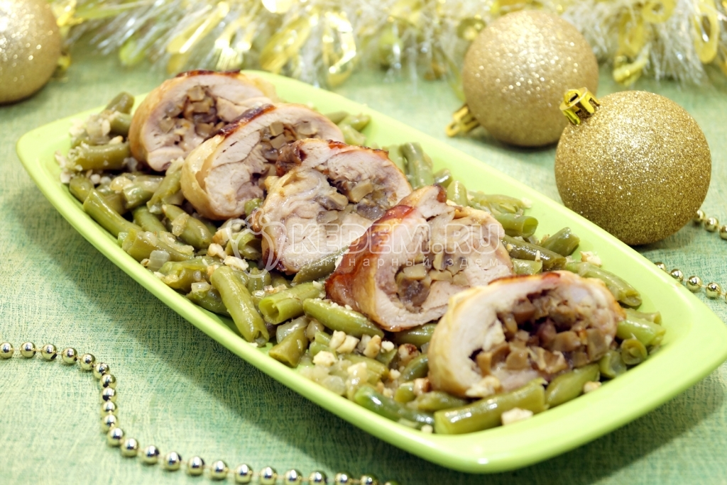 Бедро куриное с грибами рецепт пошагово 11