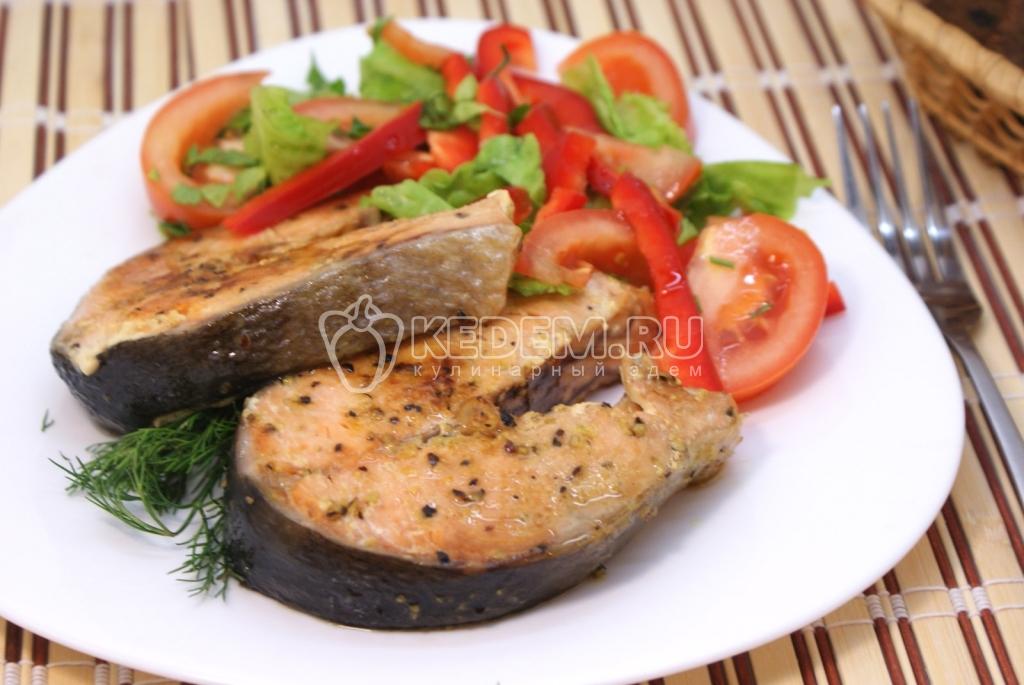 рецепт рыбы с овощами запеченной в духовке в фольге