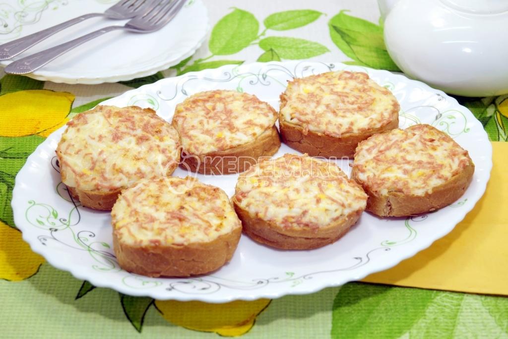 Бутерброды горячие с ветчиной и ананасом рецепт 150