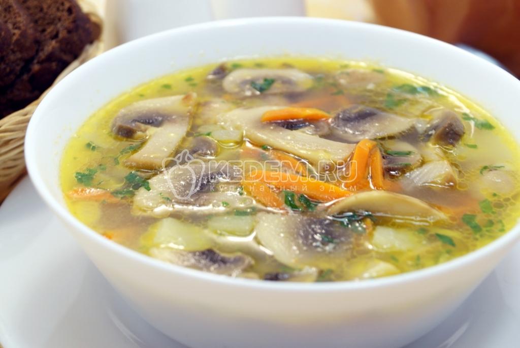 рецепт супа из грибов жареных