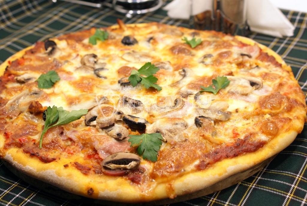 как приготовить тесто для пиццы бнз дрожжей