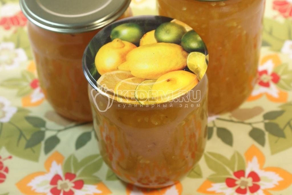 рецепт кабачкового варенья с лимоном
