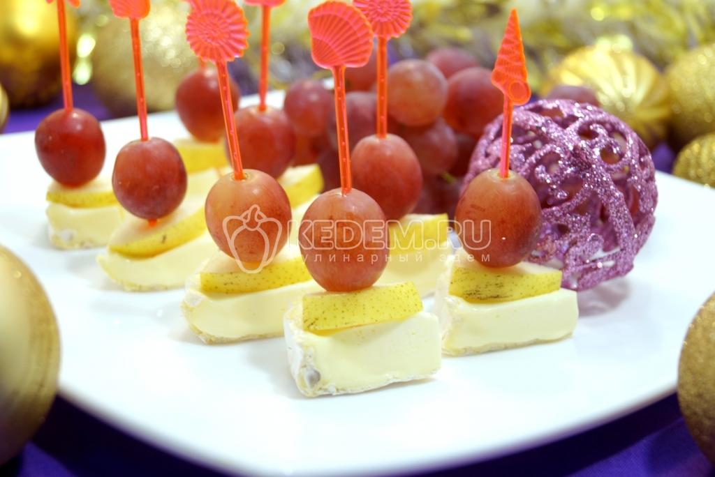 рецепты канапе с фото с сыром
