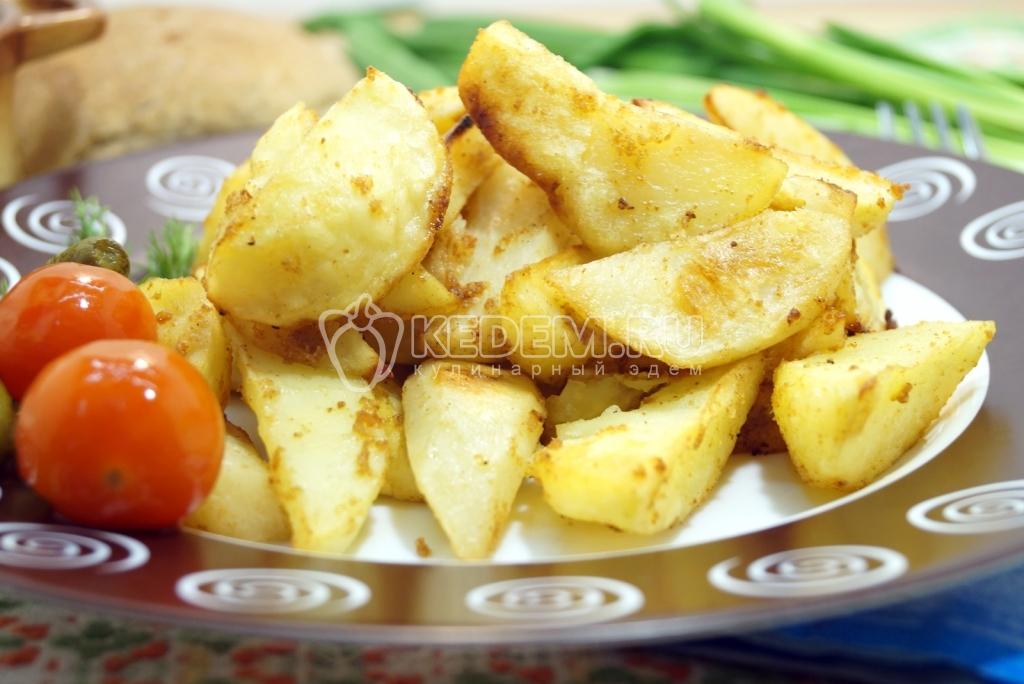 Картофельные дольки рецепт на сковороде
