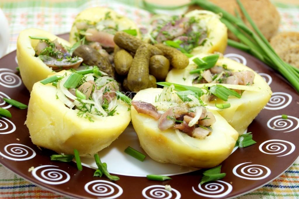 Рецепт приготовления картошки с селедкой