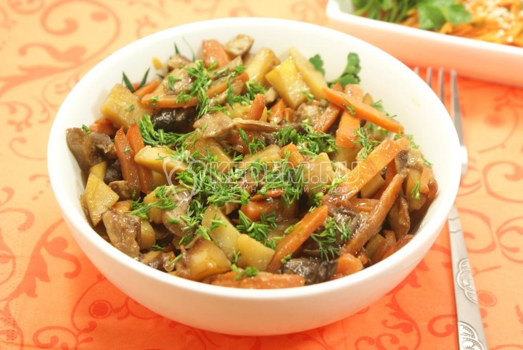 Блюда из грибов и картофеля рецепты