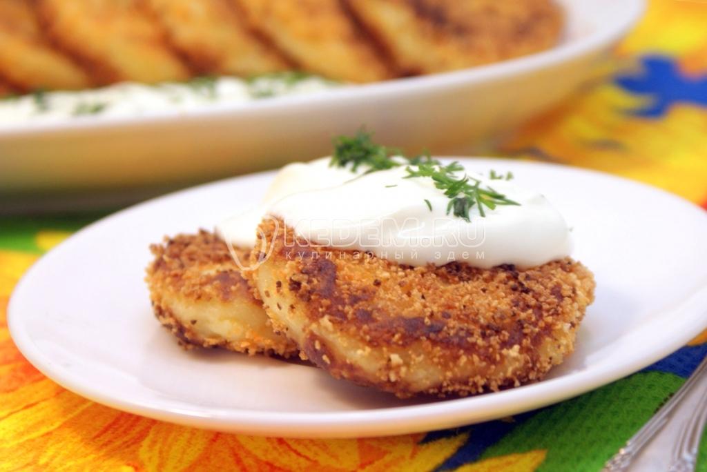 Постные картофельные котлеты с грибами рецепт с