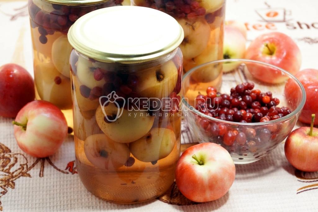 Компот из яблок и брусники рецепты