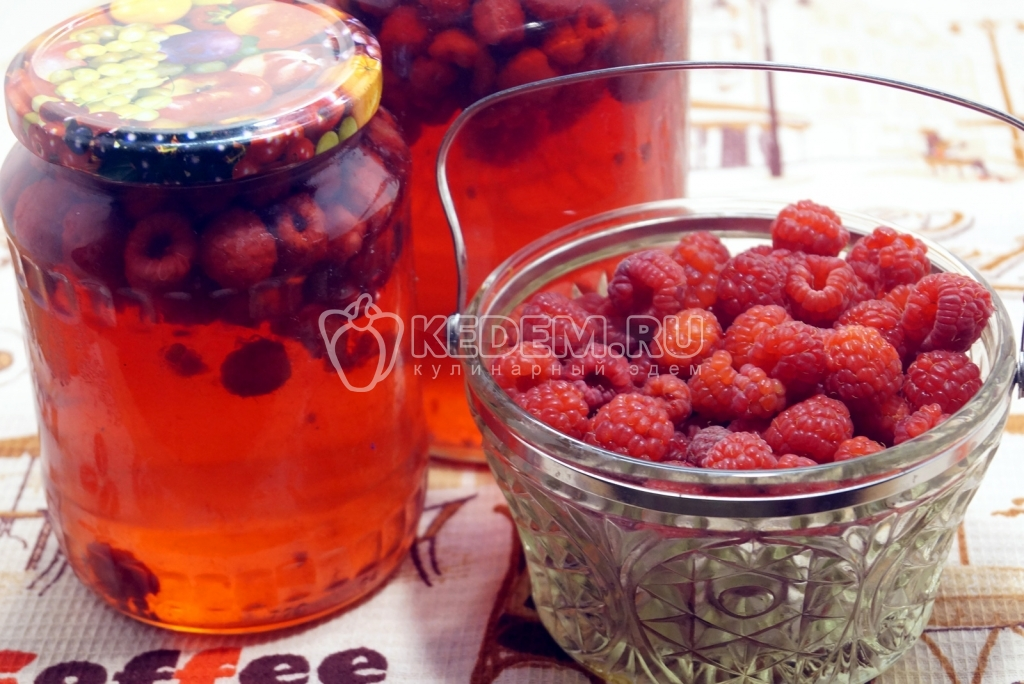 рецепт варення компот з малини