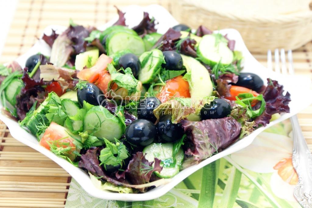 Диета на салатах из свежих овощей