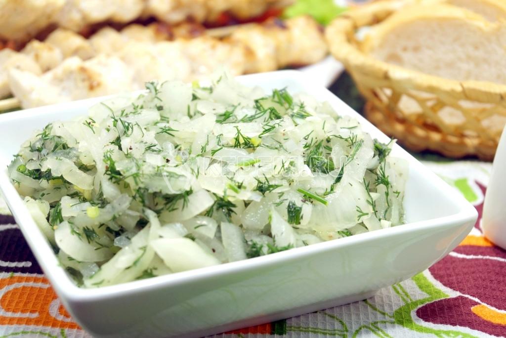 рецепт маринованного лука для салата
