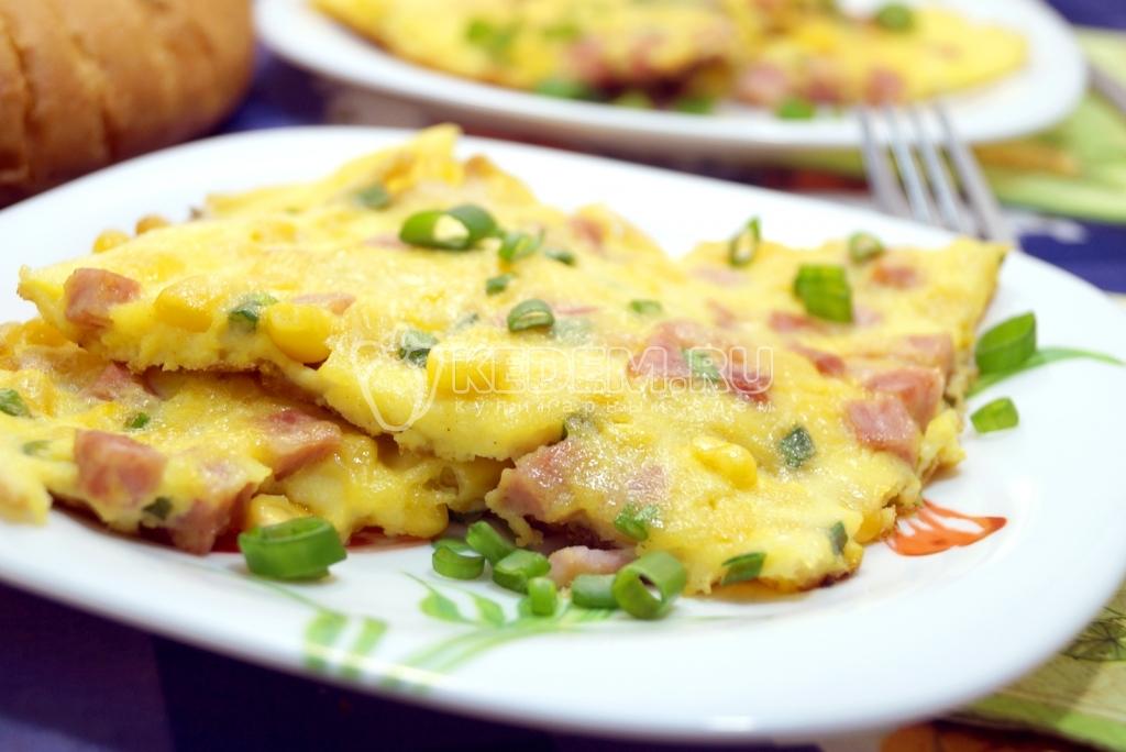 рецепт омлета из яиц с колбасой