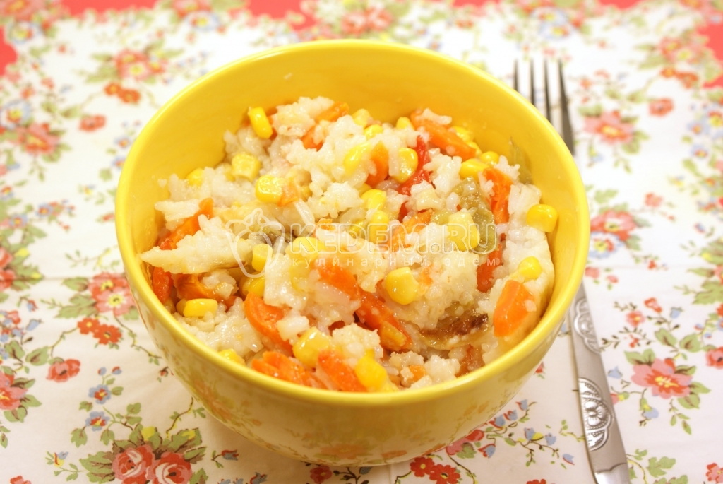 Рис с овощами пошаговый рецепт с фото