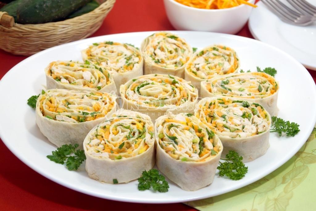 Закуски из лаваша с рецепты пошаговый