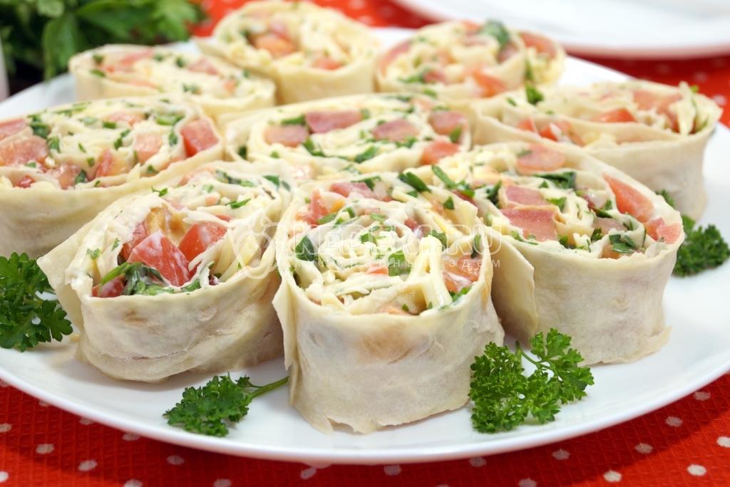 Холодные закуски с фотографиями из лаваша