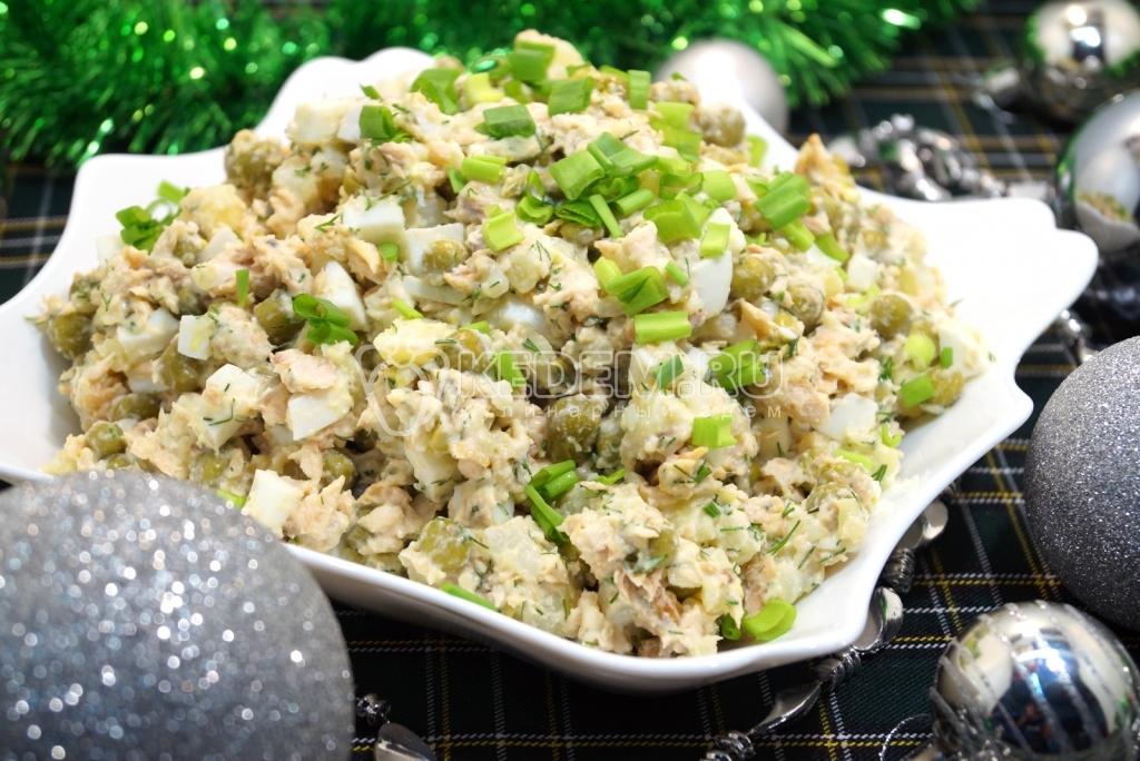новогодние рецепты салатов с рыбой