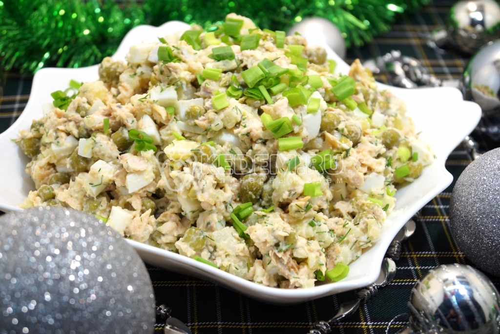 Вкусные рыбные салаты на новый год