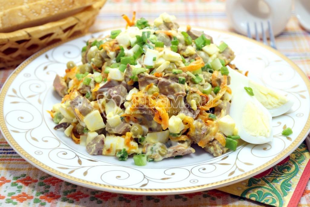 Салат из куриной печени  Пошаговый рецепт с фото Салаты