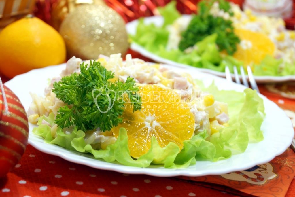 новогодние салаты ананасом фото
