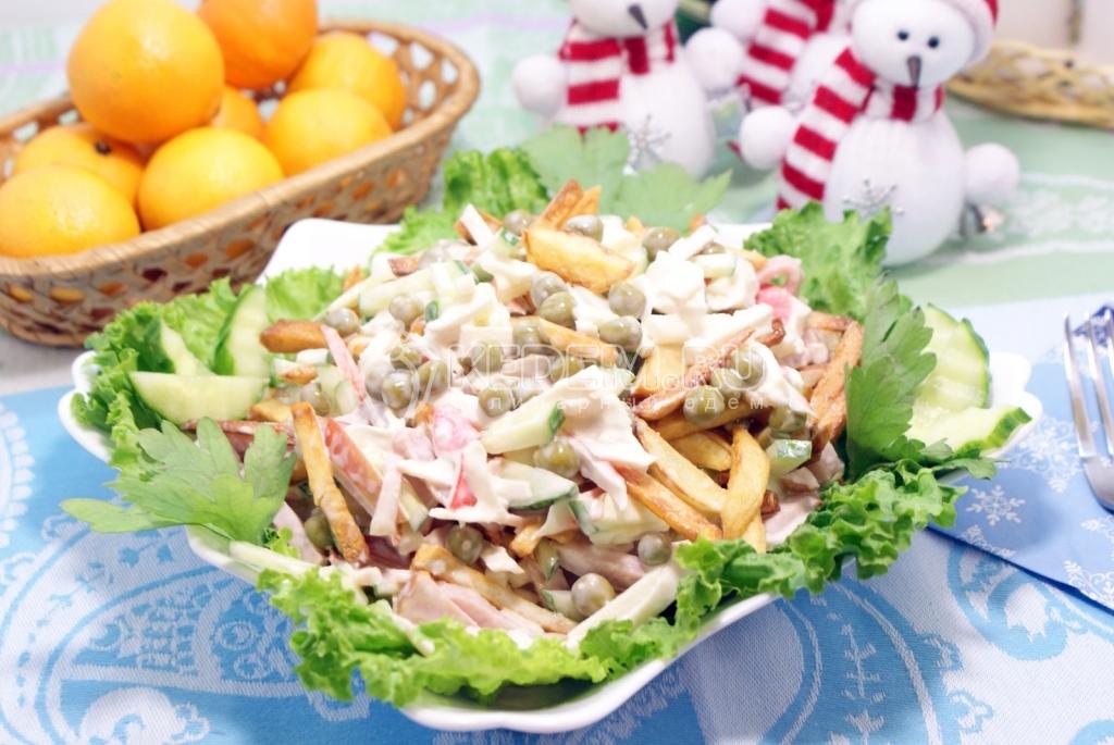 Салат «Новогодний сюрприз» – Пошаговый рецепт с фото. Салаты. Вкусные рецепты с фото