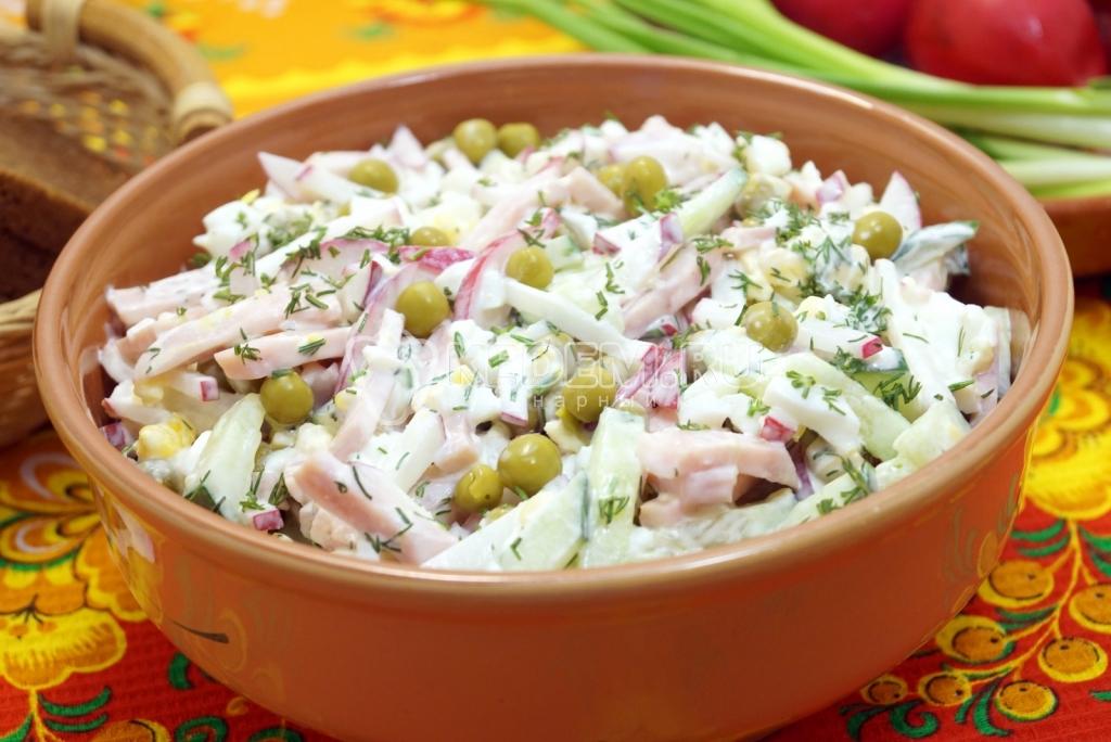 Салат с курицей и омлетом - Пошаговый рецепт с фото Салаты