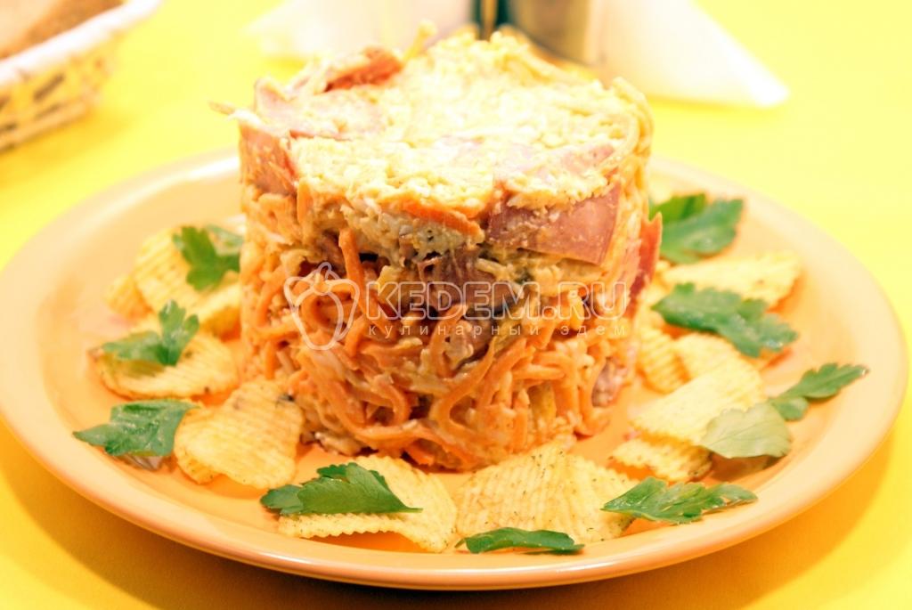 салат полукопченая колбаса рецепт