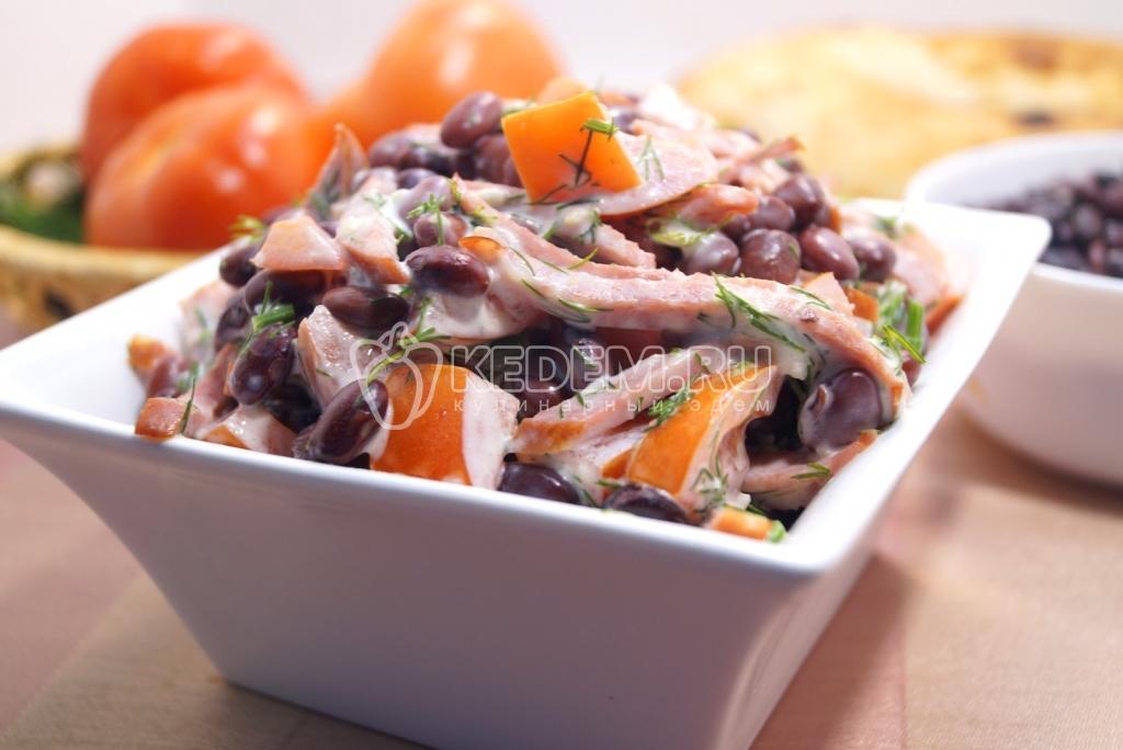 салаты с фасолью и колбасой рецепты с фото
