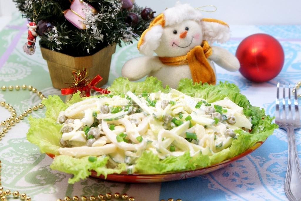 Салат из кальмаров пошаговый рецепт 1