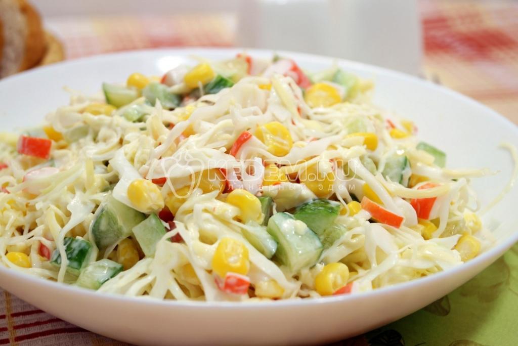 Салат из крабовых палочек и капусты рецепт