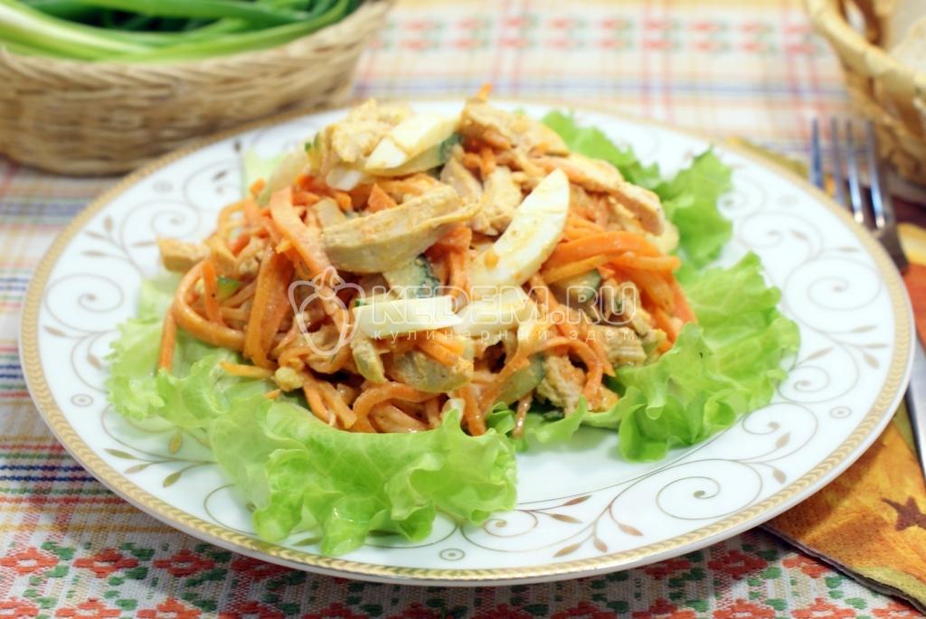 Куриные салаты с корейской морковью рецепты