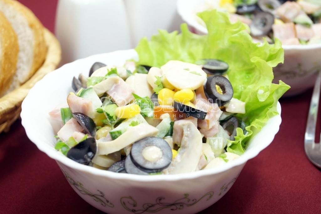Салаты с свежими грибами рецепты с простые и вкусные