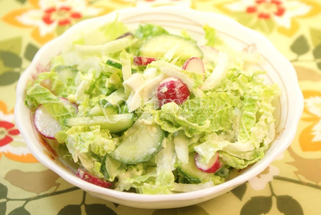 Салат с пекинской капустой и огурцами и сыром рецепт с 38